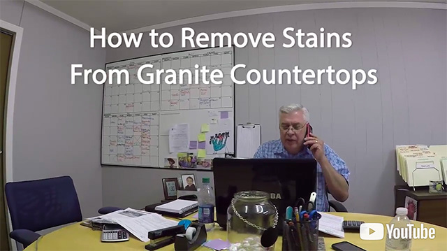 How To Remove Stains From Granite Countertops. View Larger Image